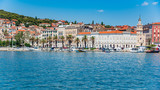 Split city promenade in the summer. Split, Croatia. - 231720700