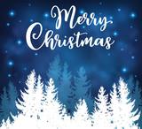 Christmas greeting card with fir tree. - 231725915