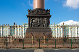 The Alexander Column in Saint Petersburg, Russia - 231729943