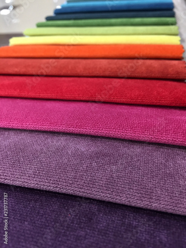 pieces of velour fabric for furniture - 231737787