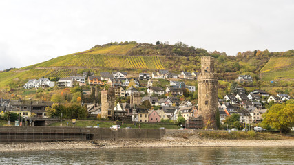 Views from Middle  Rhine River cruise in the Fall © Chris