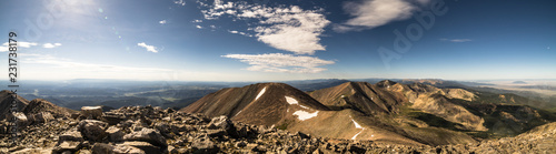 Foto Murales View from Culebra Peak, a Colorado Rocky Mountain