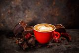 Chili and chocolate flavored coffee - 231738742