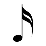 Sixteenth note. Musical symbol - 231741321