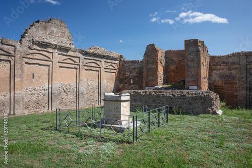 The Roman Ruins in Pompii