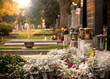 Leinwandbild Motiv Friedhof