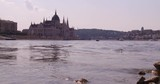 Hungarian Parliament at the riverside of the second longest river of Europe in Budapest. - 231754580