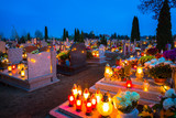 Colorful candles on the cemetery at All Saints Day, Poland - 231761780