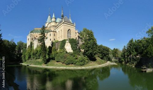 romantic Bojnice castle in the western part of Slovakia