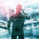 Double exposure Business plan and strategy concept. - 231770191