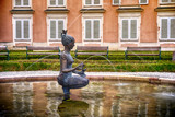 Water fountain with statue of a girl in Mirabell palace gardens Salzburg, Austria - 231774977