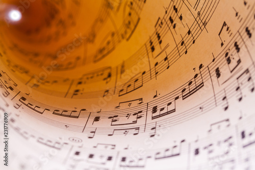 Curled Sheet Music