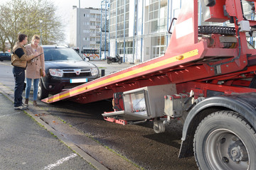 towing the car