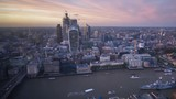 time lapse London sunset, view on business modern district, UK - 231789325