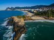 Quadro Wonderful places in the world. Arpoador Beach, Devil's Beach, Ipanema district of Rio de Janeiro Brazil, South America.