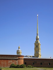 Peter and Paul fortress in Saint Petersburg. Russia