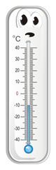 thermometer, degree, temperature, weather, celsius, scale, medicine, hydrometeorological center, sad, winter © Djessi85