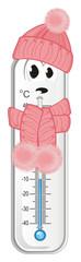 thermometer, degree, temperature, weather, celsius, scale, medicine, hydrometeorological center, sad, cold, winter © Djessi85