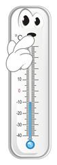 thermometer, degree, temperature, weather, celsius, scale, medicine, hydrometeorological center, cold, sad © Djessi85
