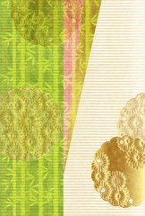 竹 和紙 年賀状 背景 © J BOY