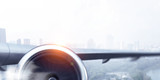 Close of airplane turbine. Mixed media - 231815184