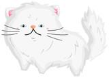 a vector of a cute persian cat  - 231816798