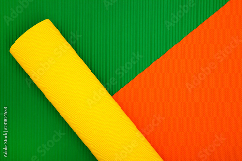 Abstract background of sheets of colored paper, for decoration, for text design, for template - 231824553