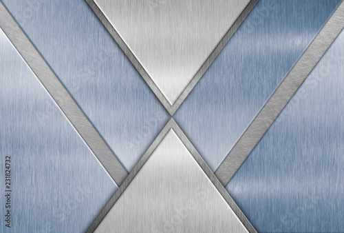 Abstract geometric background, steel frame