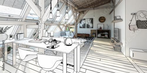 Moje miejsce pod dachem 03 (projekt panoramiczny)