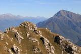 Alpengipfel am Comer See; Blick vom Monte Grona zum Monte Legnone - 231830383