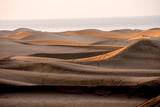 Desert with sand dunes in Gran Canaria Spain - 231833124