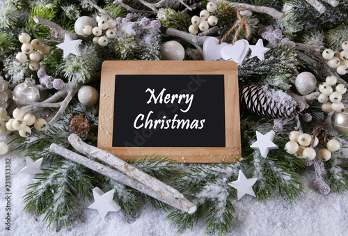 Leinwandbild Motiv Merry Christmas