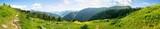 Landschaft Panorama mit Berg in den Alpen