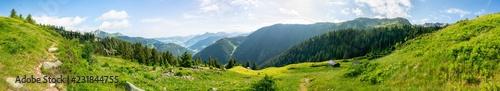 fototapeta na ścianę Landschaft Panorama mit Berg in den Alpen