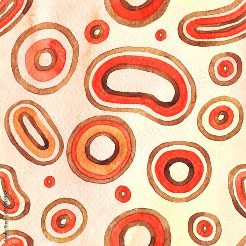 Microcosm watercolor seamsess pattern © Sonyara