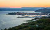 Sunrise in Izola from above, Slovenia