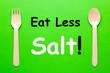 Leinwandbild Motiv Eat Less Salt