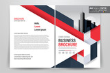 Red Business Brochure Layout Template. Vector illustration - 231876791