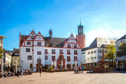 Leinwandbild Motiv Darmstadt, Marktplatz
