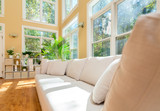 Sectional sofa in a large luxury interior home - 231887565