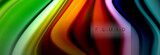 Rainbow fluid abstract shapes, liquid colors design, colorful marble or plastic wavy texture background, multicolored template for business or technology presentation or web brochure cover design - 231888116