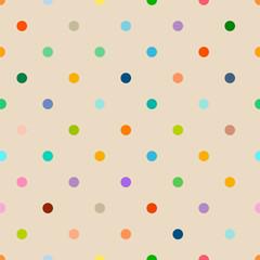 seamless polka dot background pattern, clean style, vector illustration © Thomas Bethge