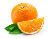 orange fruits with leafs