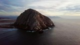 Morro Bay, California - Morro Rock - Sunset wide shot - 231892391