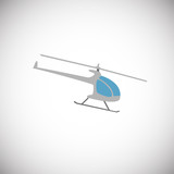 Helicopter aircraft icon on white background icon - 231900179
