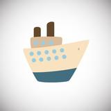 Flat ship on white background icon - 231900328