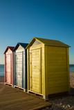 Several beach huts
