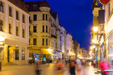 Torun old town streets and building in twilight, Poland - 231921737