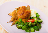 Grilled partridge with steamed vegetables - 231921958