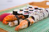 Sushi set in restaurant © JackF